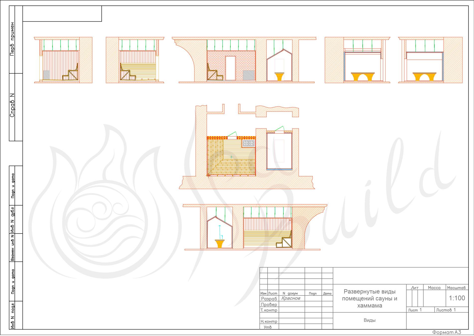 Схемы и проекты саун и бань
